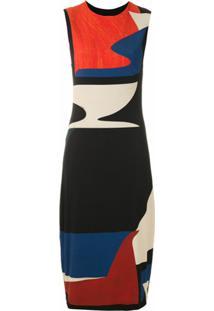 Osklen Vestido Midi Estampado - Preto