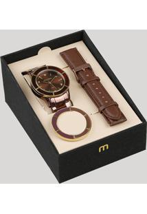 Relógio Analógico Mondaine Troca Pulseira Feminino - 99265Lpmvms5 Marrom - Único