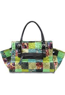 Bolsa Amanda Clover Em Patchwork Original - Multicolorido - Feminino - Dafiti