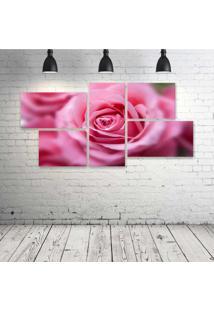 Quadro Decorativo - Pink-Rose - Composto De 5 Quadros - Multicolorido - Dafiti