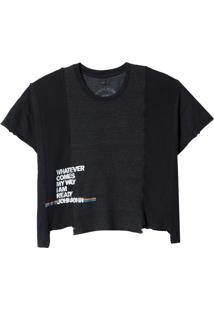 Camiseta John John Wathever Feminina (Preto, M)