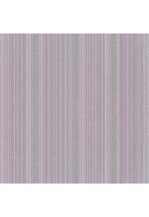 Papel De Parede Listrado- Cinza & Lilã¡S- 1000X52Cm
