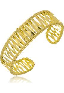 Bracelete Le Diamond Fios Aramados Folheados