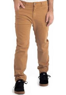 Calça Alfa Sarja Pro Model Gui Zolin Caramelo - Masculino