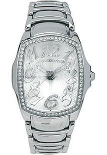 Relógio De Pulso Chronotech Prisma Lady Night - Aço C - Feminino-Prata