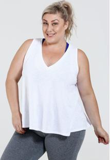 Regata Feminina Decote V Plus Size Fitness Marisa