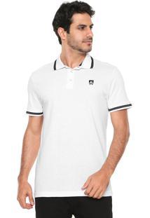 Camisa Polo Mr Kitsch Reta Logo Branca