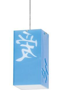 Pendente 5221 Azul Para 1 Lâmpada