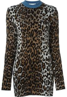 Stella Mccartney Blusa De Moletom Animal Print - Marrom