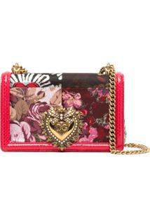 Dolce & Gabbana Bolsa Tiracolo Devotion Com Patchwork - Vermelho