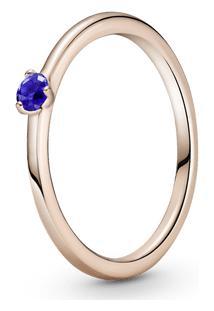 Anel Solitário Azul Estrelar Pandora Rose™