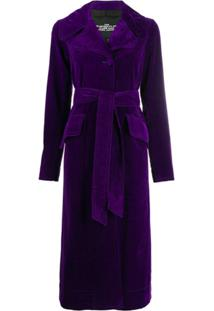 Marc Jacobs Trench Coat Com Cinto - Roxo