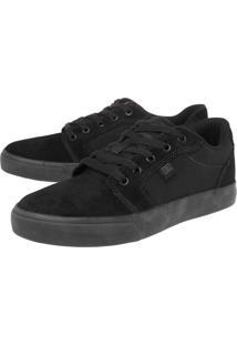 Tênis Dc Shoes Anvil 2 La Bordado Preto