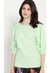 Blusa Lisa- Verde Claro- Colccicolcci