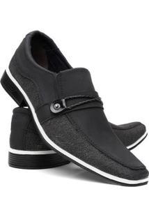Sapato Social Venetto Thor Masculino - Masculino-Preto