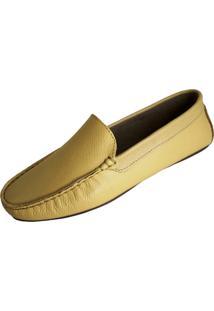 Mocassim Scarpe Pespontos Amarelo