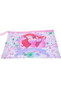 Necessaire Minas De Presentes Princesa Ariel Rosa