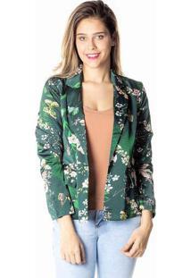 Blazer Floral - Verde Escuro & Nudedwz