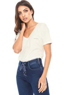 Camiseta Ellus Cotton Gaze Off-White