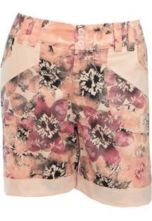 Shorts Pau A Pique Estampado Floral Salmom