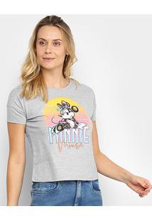 Blusa Cativa Disney Minnie Feminina - Feminino-Mescla
