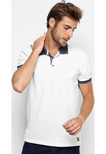 Camisa Polo Colcci Piquet Mesclada Masculina - Masculino