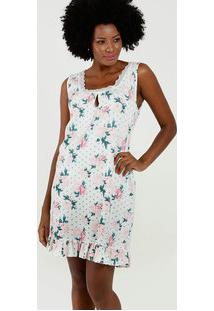 Camisola Feminina Estampa Floral Sem Mangas Marisa
