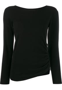 Twin-Set Suéter Com Zíper - Preto