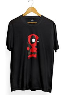 Camiseta Skill Head Deadpool - Masculino-Preto