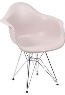 Cadeira Moderna Com Base Cromada 1121-Or Design - Cinza