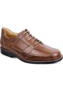 Sapato Social Masculino Conforto Sandro Moscoloni New Jersey Marrom Claro