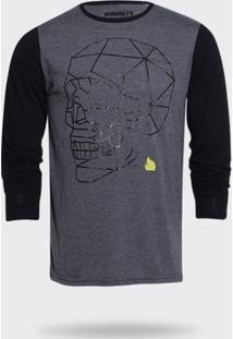 Camiseta Manga Longa Burnett Mescla Masculina - Masculino