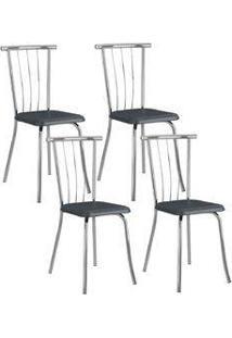 Cadeira 154 Cromada 04 Unidades Jeans Carraro