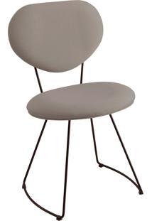 Cadeira Milao Aço T1071 Linho Daf Cinza