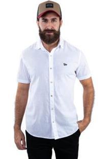 Camisa Fashion Brand New Era Masculina - Masculino-Branco