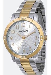 Kit Relógio Feminino Mondaine 83468Lpmvbe4K1 Analógico 5Atm + Conjunto Semijóia