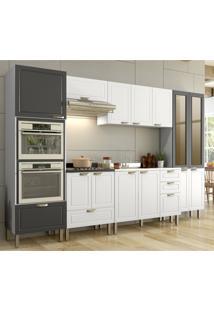 Cozinha Completa 7 Peã§As Americana Multimã³Veis 5657Mf Branco/Grafite - Branco/Incolor - Dafiti