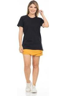 T-Shirt Clara Arruda Lisa 20654000 - Feminino-Preto