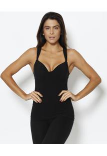 Blusa Modeladora Lisa- Preta- Hopehope