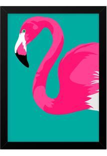 Quadro Adoraria A4 Flamingo Preto
