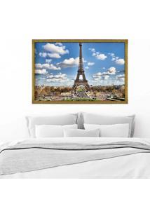 Quadro Love Decor Com Moldura Magnifique Paris Dourado Médio
