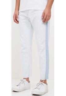 Calça Slim Cropped Em Jeans
