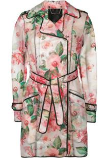 Philipp Plein Trench Coat Floral - Rosa