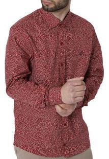 Camisa Manga Longa Masculina Vermelho