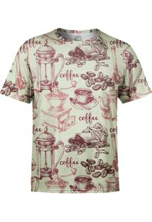 Camiseta Estampada Over Fame Café/Bege