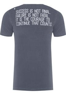 Camiseta Masculina Sucess Is Not - Cinza