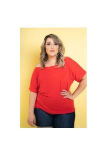 Blusa Big Vermelho Paixão Plus Size Domenica Solazzo Domenica Solazzo Blusas Vermelho