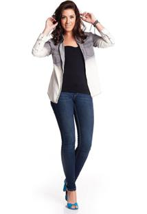 Camisa Gajang Jeans Cinza