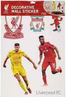 Cartela Com 10 Adesivos De Parede Liverpool