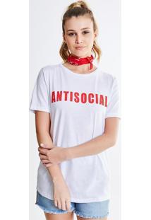 Blusa Com Lettering Antisocial